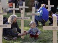 У Празі встановили 107 хрестів пам'яті Небесної сотні