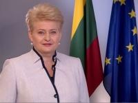 Президент Литви заговорила українською на честь Дня незалежності